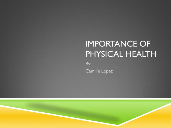 importance of physical health n.