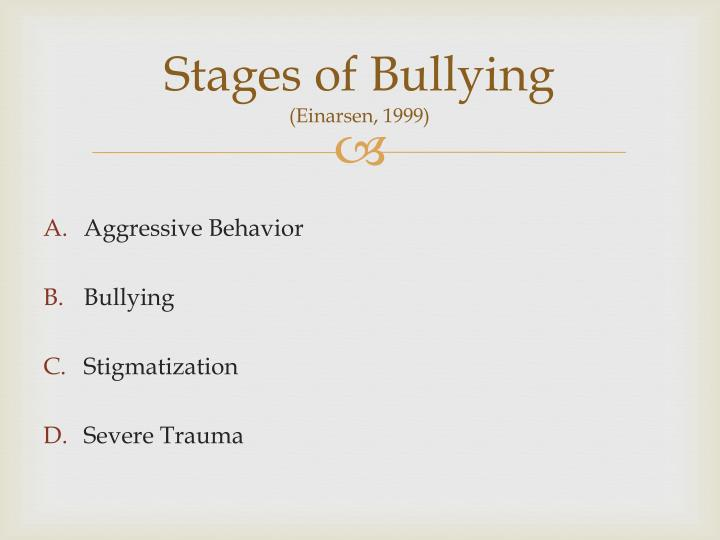 Stages of Bullying