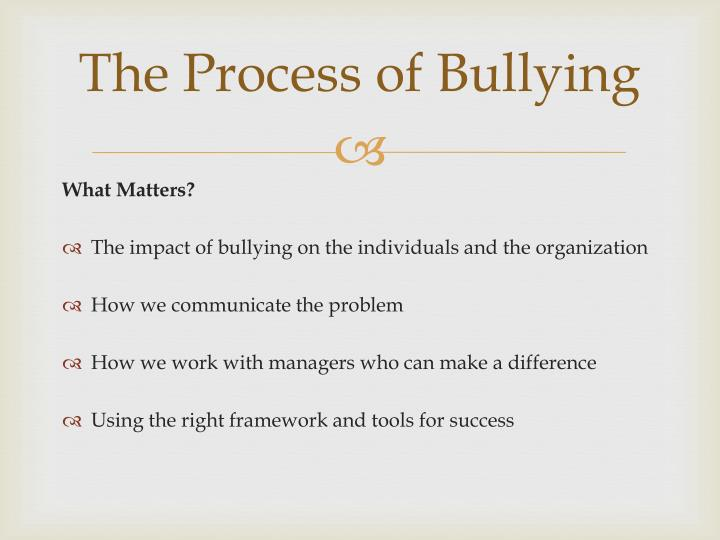 The Process of Bullying