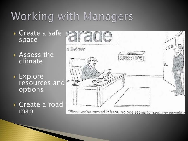Working with Managers