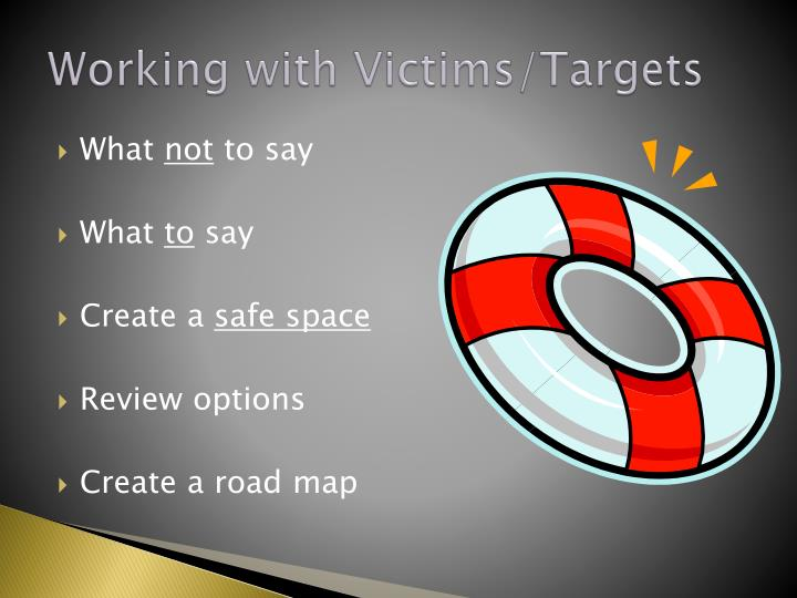 Working with Victims/Targets