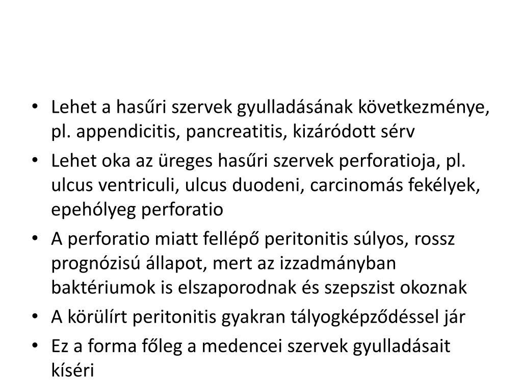 posztoperatív appendicitis diétar