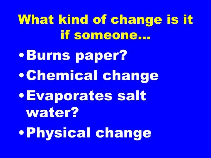 is burning paper a chemical change