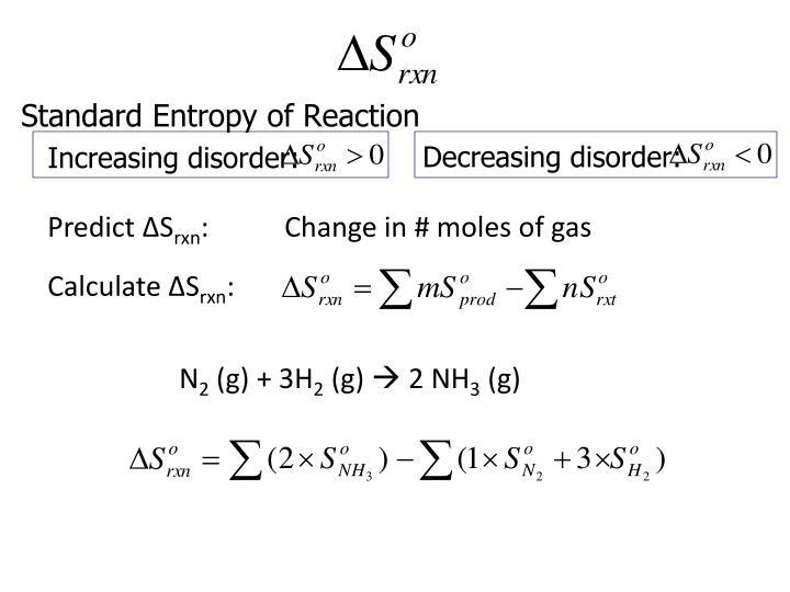 Standard Entropy of Reaction