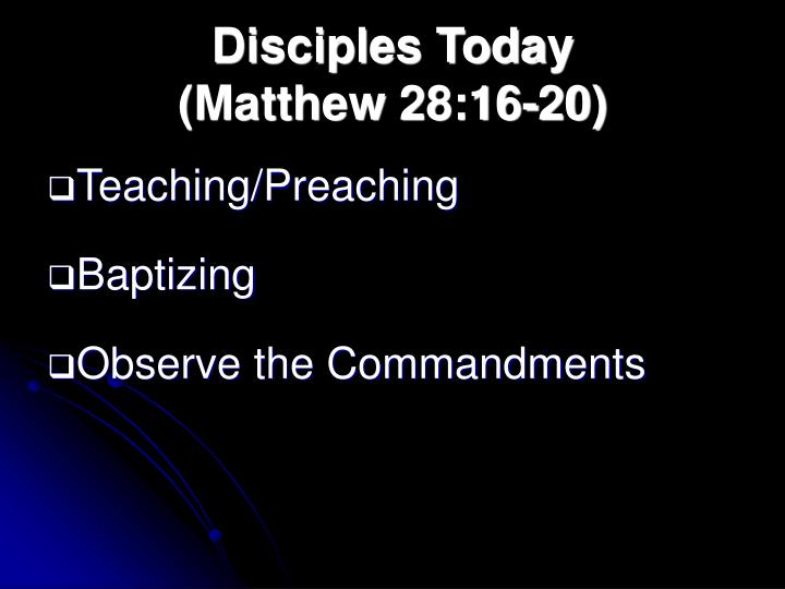 Disciples Today