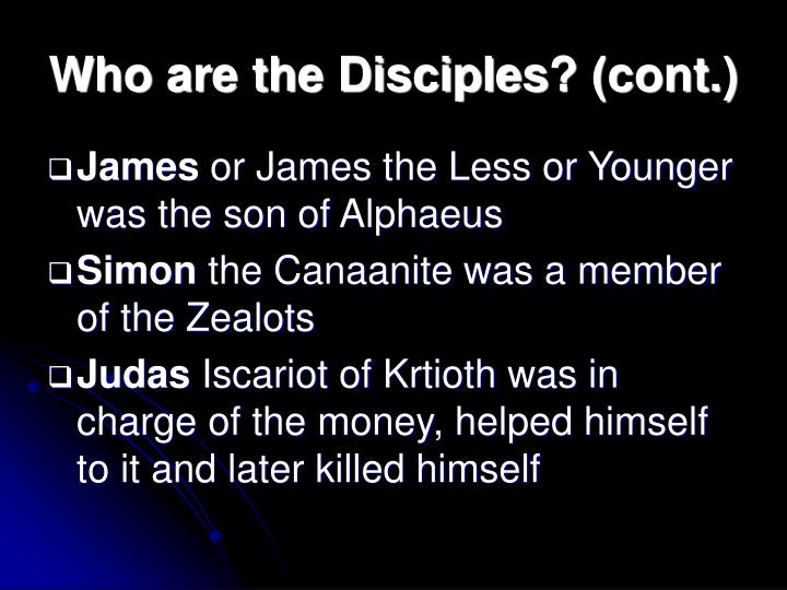 Who are the Disciples