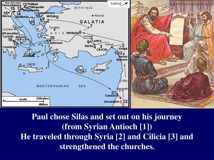 Paul chose Silas and set out on his journey