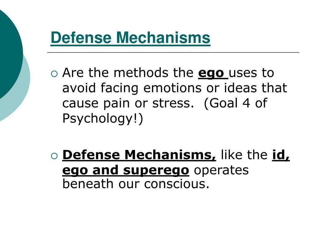 Ppt More About Freud Defense Mechanisms Powerpoint Presentation