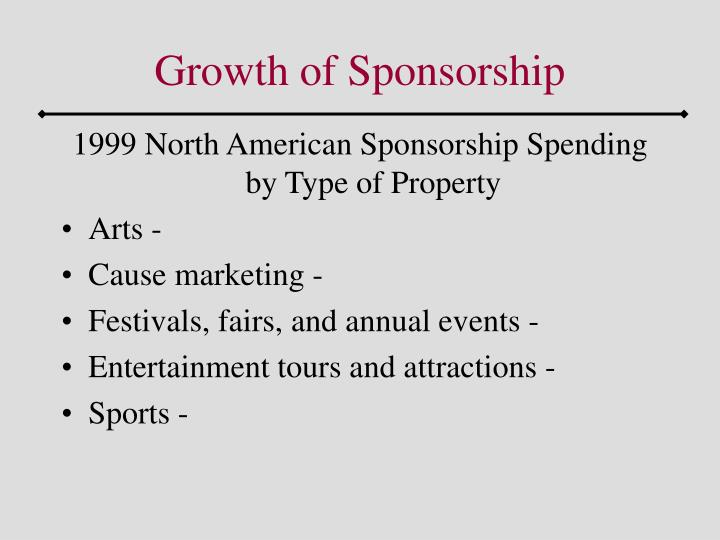Growth of Sponsorship
