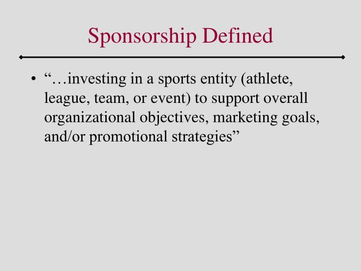 Sponsorship defined