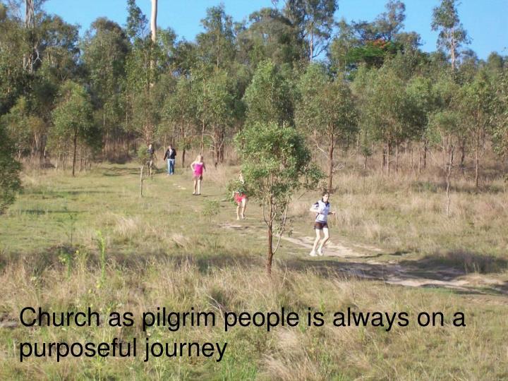 Church as pilgrim people is always on a purposeful journey