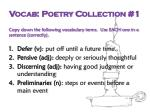 vocab poetry collection 1