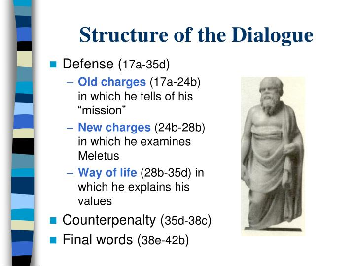 an analysis of socrates dialogue crito Examining socrates in crito in the dialogue crito, socrates employs his elenchus to examine the notion of justice and one's obligation to justice in the setting of the dialogue, socrates has been condemned to die, and crito comes with both the hopes and the means for socrates to escape from prison.