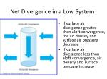 net divergence in a low system