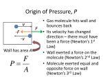 origin of pressure p