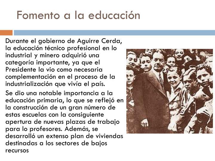 Fomento a la educación