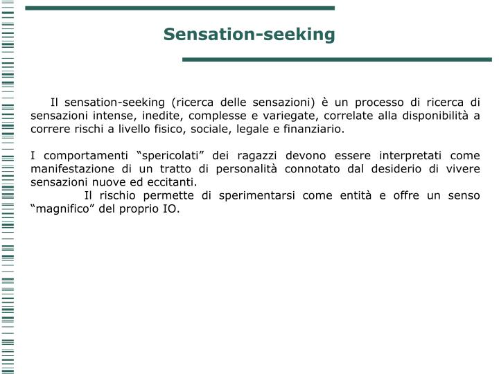 Sensation-seeking