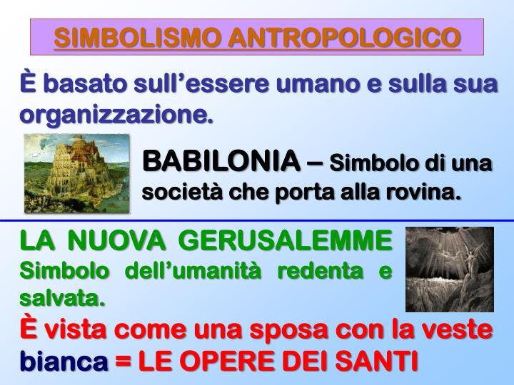 SIMBOLISMO ANTROPOLOGICO