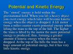 potential and kinetic energy1