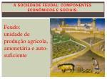 a sociedade feudal componentes econ micos e sociais1