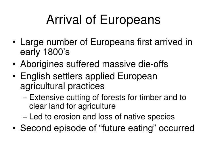 Arrival of Europeans