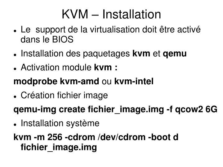 KVM – Installation