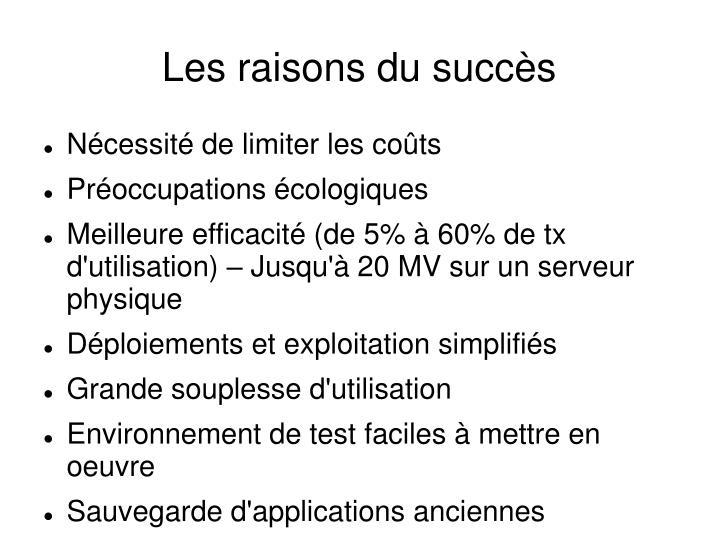 Les raisons du succès