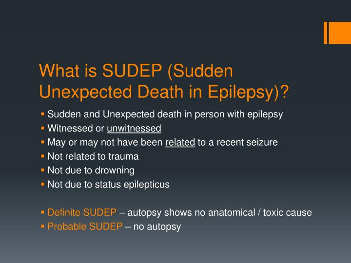 What is sudep sudden unexpected death in epilepsy