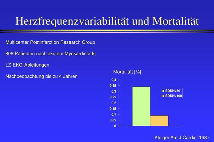 Herzfrequenzvariabilität und Mortalität