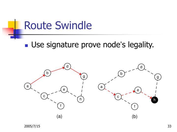 Route Swindle