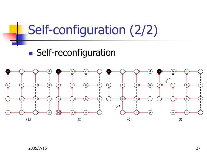 Self-configuration (2/2)