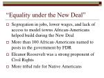 equality under the new deal