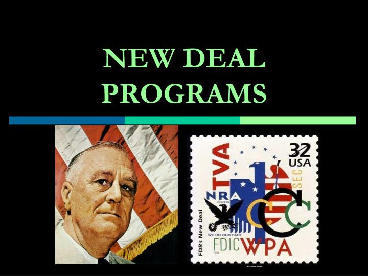 new deal programs n.