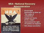 nra national recovery administration