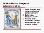 wpa works progress administration