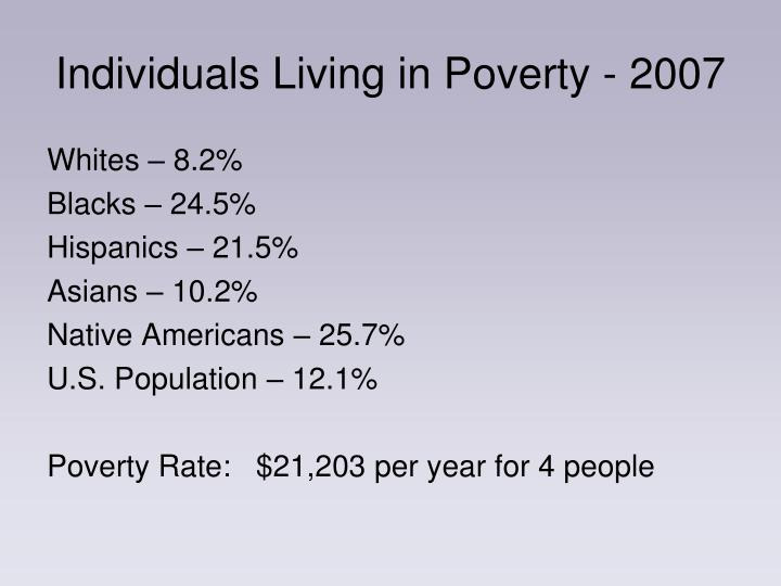 Individuals Living in Poverty - 2007