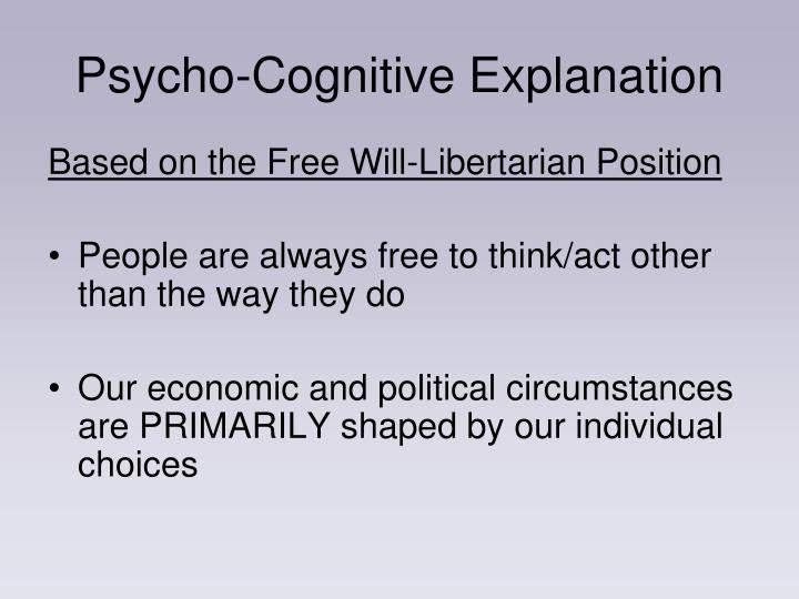 Psycho-Cognitive Explanation