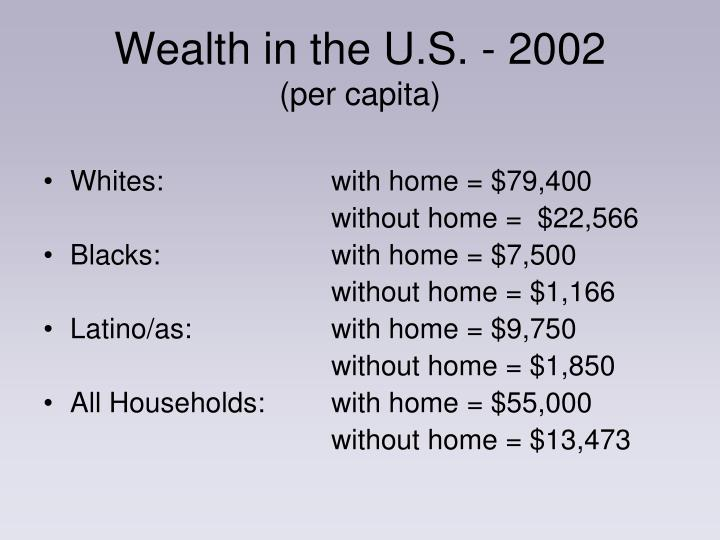 Wealth in the U.S. - 2002