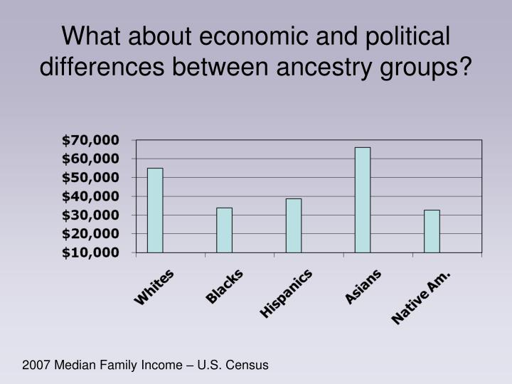 What about economic and political differences between ancestry groups?