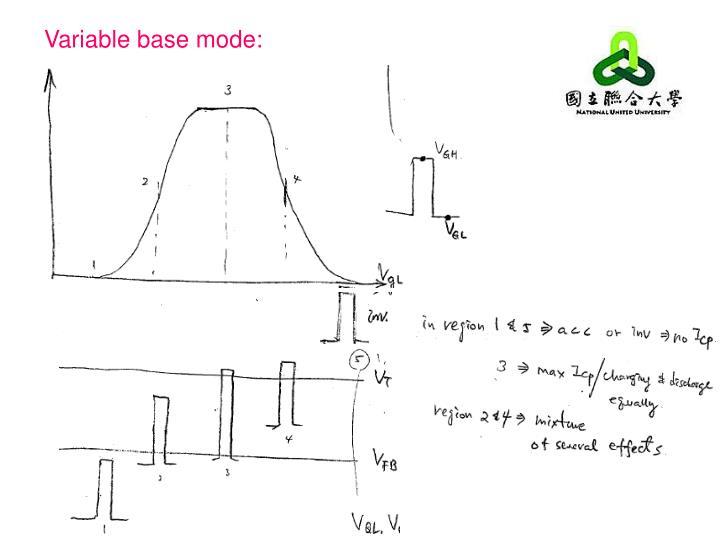Variable base mode: