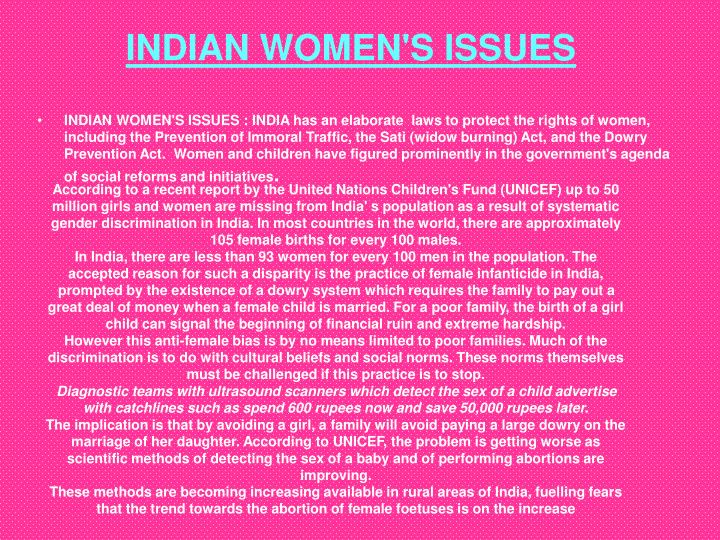 INDIAN WOMEN'S ISSUES