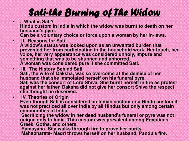 Sati-the Burning of The Widow