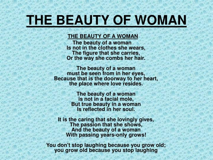 The beauty of woman
