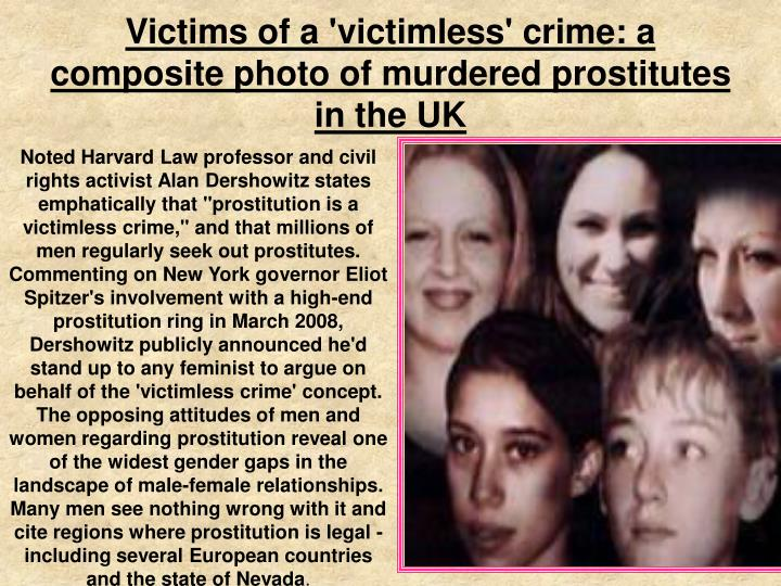 Victims of a 'victimless' crime: a composite photo of murdered prostitutes in the UK