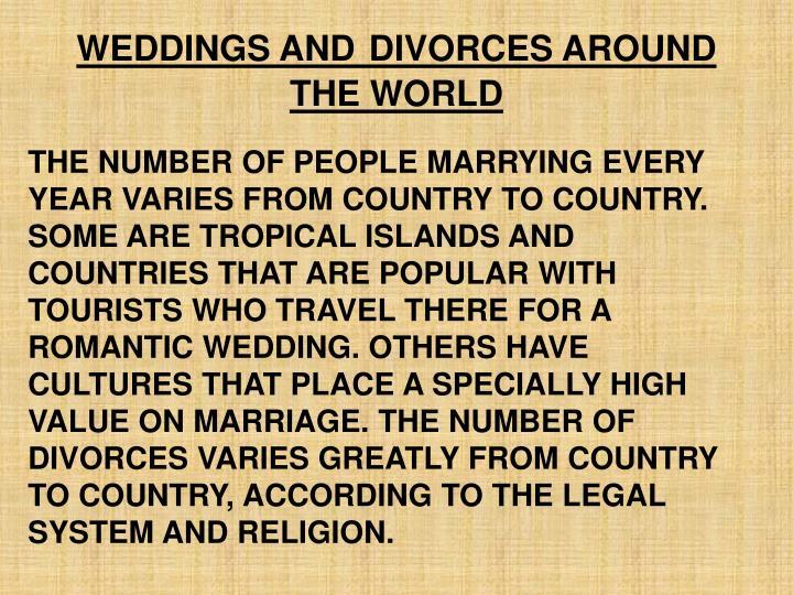 WEDDINGS AND