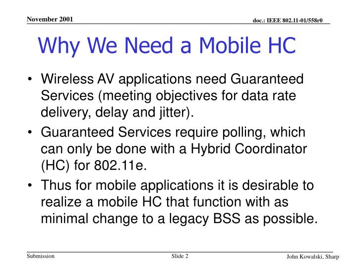 Why we need a mobile hc