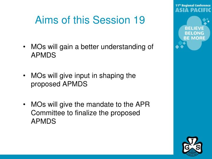 Aims of this session 19