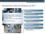 introduction why surveillance at iiit