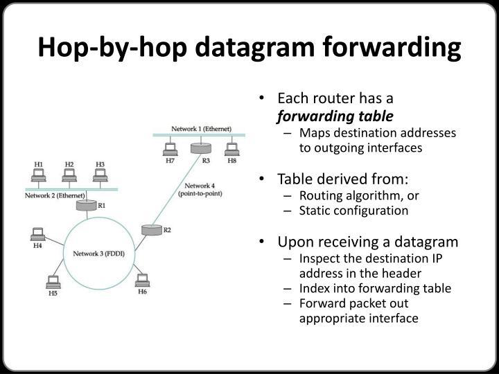 Hop-by-hop datagram forwarding