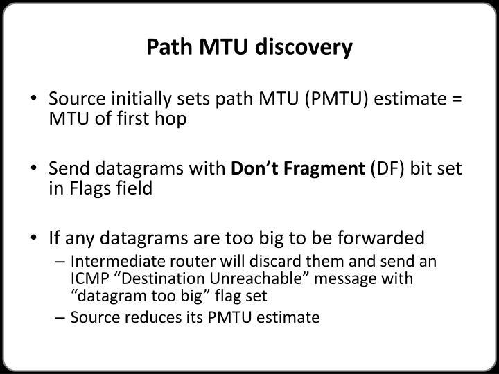 Path MTU discovery